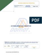CAL-P-004 ACCIONES CORRECTIVAS Y PREVENTIVAS