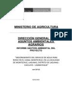 INFORME DE GESTION AMBIENTAL DEL PROYECTO