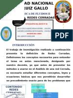 REDES CERRADAS- MECANICA DE FLUIDOS
