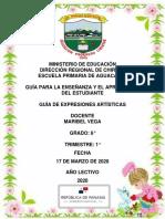 GUÍA DE  EXPRESIONES ARTISTICAS MODULO MARIBEL VEGA