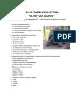 Comprensión lectora sobre  La tortuga gigante.docx