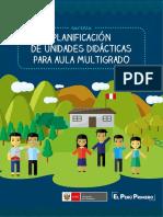 CARTILLA PLANIFICACION DE UNIDADES DIDACTICAS PARA AULA MULTIGRADO