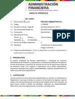 UNIDAD DE APRENDIZAJE PROCESOS  ADMINISTRATIVOS I 2017-2
