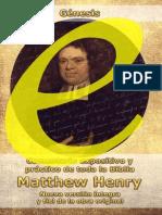 Matthew Henry - Comentario Genesis