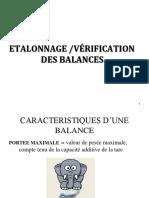 Cours 3 Étalonnage Et Vérification Balance