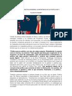 LA COMUNICACIÓN POLÍTICA MODERNA Y LA IMPORTANCIA DE LA POLÍTICA POP EL EFECTO TRUMP