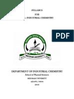 Industrial chemistry - M.Sc.