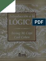 Copi Irving - Introducción a la lógica. Traduccion  de Edgar Antonio González Ruiz. LIMUSA, México 2007 (704p)