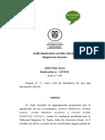 (REGAÑO A UN JUEZ POR ESCUETA RESPUESTA) STP17361-2019. RAD 107676..docx