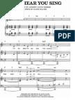 Next to normal sheet music