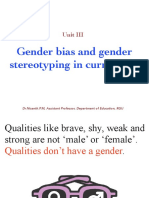 Gender Bias and Gender Steriotype in Curriculum