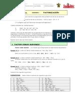 taller de Algebra proceso de factorizacion