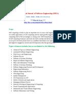 International Journal  of Software Engineering (IJSEA)