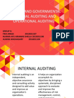 INTERNAL AND GOVERNMENTAL FINANCIAL AUDITING AND OPERATIONAL AUDITING