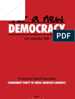 For a New Democracy Jul Sept 2009
