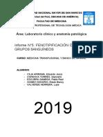 Informe N°5 Banco de Sangre