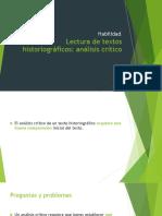 02. Lectura de textos historiográficos, crítica
