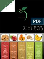 Combinações de frutas e ervas