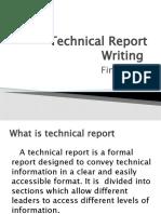Technical Writing- Final term