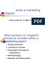 How to Write a Marketing Thesis