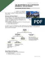 Generalidades del Sector Público, de la Contabilidad Gubernamental y de las Finanzas