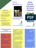 SJC Girl Scout Brochure