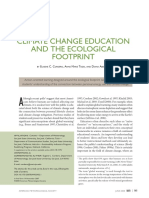 CLIMATE CHANGE EDUCATION AND THE ECOLOGICAL FOOTPRINT