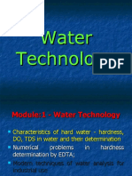 Water Technology Characteristics of Hard Water - Hardness, DO, TDS in Water