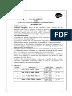 CE332 Course Outline