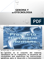 GENOMA Y BIOTECNOLOGIA