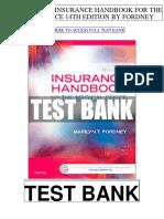 Insurance Handbook Medical Office 14th Fordney Test Bank