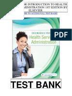 Introduction Health Services Administration 1st Elsevier Test Bank