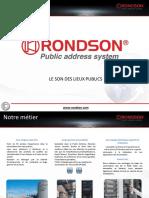Présentation Rondson SSS