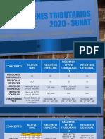 REGÍMENES TRIBUTARIOS 2020 - SUNAT