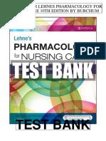 Lehnes Pharmacology Nursing Care 10th Burchum Test Bank