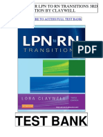Lpn Rn Transitions 3rd Claywell Test Bank