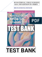 Maternal Child Nursing Care Canada 2nd Perry Test Bank