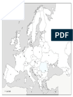 harta contur state Europa