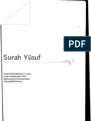 Al Misbah 012 Surah Yusuf