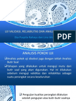 Ppt Validitas, Reliabilitas dan Analisis Pokok Uji.pptx