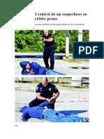 Mantener el control de un sospechoso en posición decúbito prono