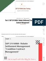 Part-1_ SAP S_4 HANA- Rebate Settlement Process- _Condition Contract Management__