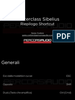 Masterclass Sibelius - Shortcut