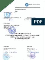 Concurs interjudetean Culoarea  albastra, culoare europeana - CAERI 2020 pozitia 699