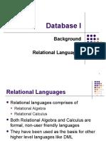 Week04 - Relational Languages