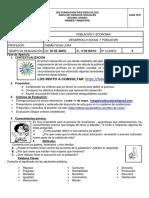 PDF AREA DE CIENCIAS SOCIALES 10 GRADO GUÍA POBLACION Y ECONOMIA 1 TRIMESTRE