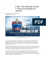 From Sea to Sky D.G. SHIPMENTS