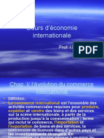 chap I l'evolution du commerec internationale