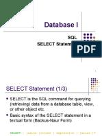 Week09 - SQL 1