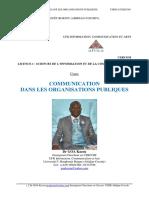 Cours de COMMUNICATION DANS LES ORGANISATIONS PUBLIQUES